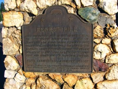 Forest Hill Marker image. Click for full size.