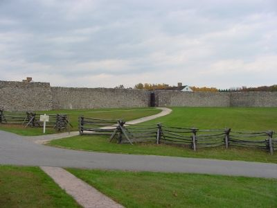 Fort Frederick South Face with Only Entrance Photo, Click for full size