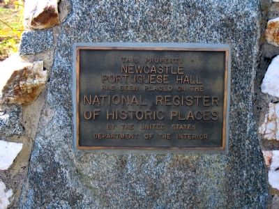 Newcastle Portuguese Hall Marker image. Click for full size.