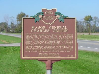 Major General Charles Griffin Marker image. Click for full size.
