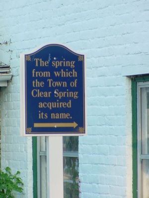 Clear Spring Marker Photo, Click for full size