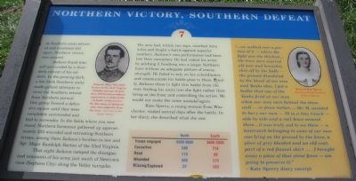 Northern Victory, Southern Defeat Marker image. Click for full size.