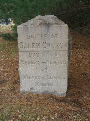 Battle of Salem Church Marker image. Click for full size.