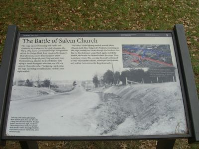 The Battle of Salem Church Marker image. Click for full size.