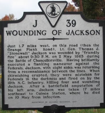 Wounding of Jackson Marker image. Click for full size.
