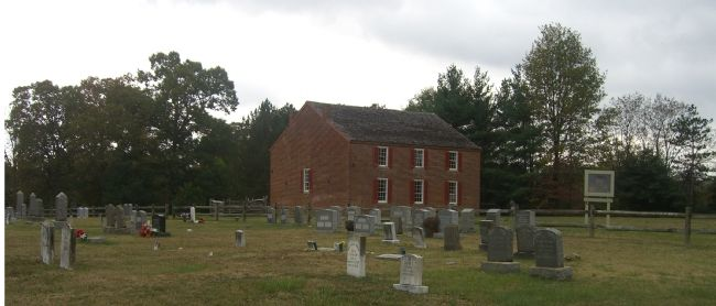 Old Salem Church, with part of the cemetery in the foreground. image. Click for full size.
