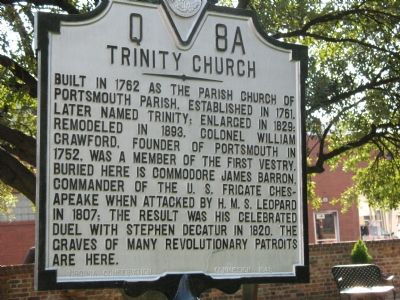 Trinity Church Marker Photo, Click for full size