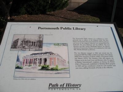 Portsmouth Public Library Marker image. Click for full size.