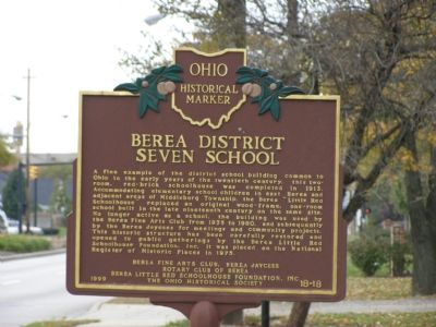 Berea District Seven School Marker image. Click for full size.
