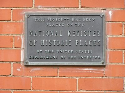 National Historic Register Plaque image. Click for full size.