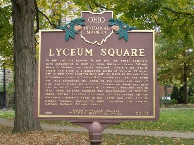 Lyceum Square Marker Photo, Click for full size