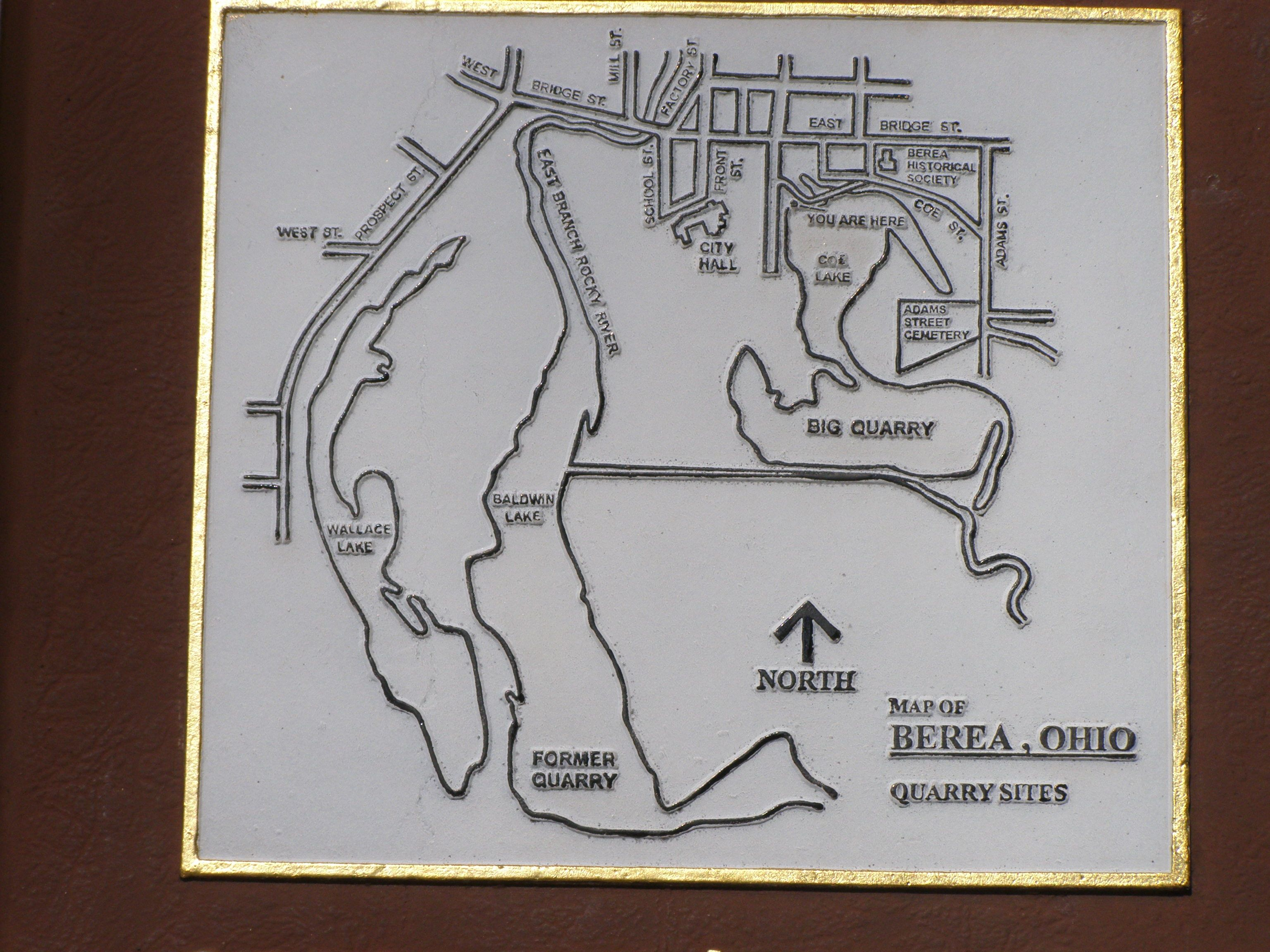 Close-up of map on the marker