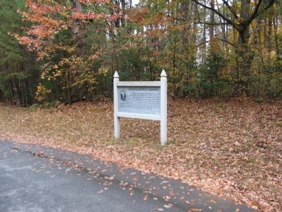 Marker Alongside McLaws Drive image. Click for full size.