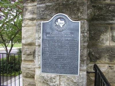 First United Methodist Church of Georgetown Marker image. Click for full size.