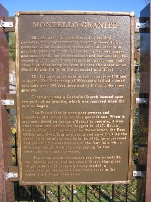 Montello Granite Marker Photo, Click for full size