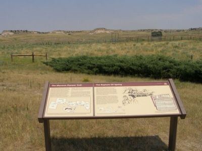 The Mormon Pioneer Trail Marker image. Click for full size.