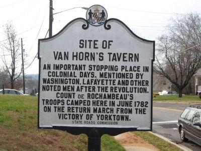 Site of Van Horn's Tavern Marker image. Click for full size.