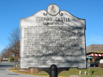 Toaping Castle Marker image. Click for full size.