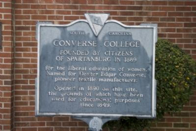 Converse College Marker image. Click for full size.