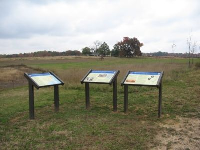 A Trio of Civil War Trail Markers at the First Day Battlefield image. Click for full size.