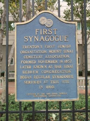 First Synagogue Marker image. Click for full size.