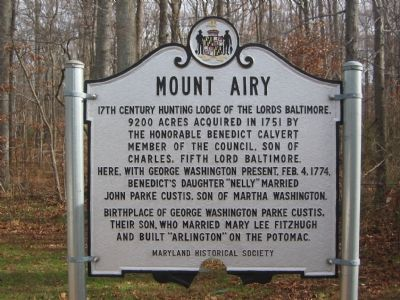 Mount Airy Marker image. Click for full size.