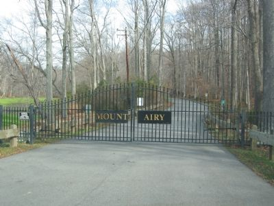 Mount Airy Gates image. Click for full size.