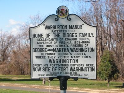 """Warburton Manor"" Marker image. Click for full size."