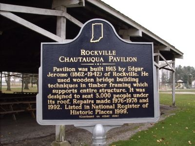 Rockville Chautauqua Pavilion Marker Photo, Click for full size