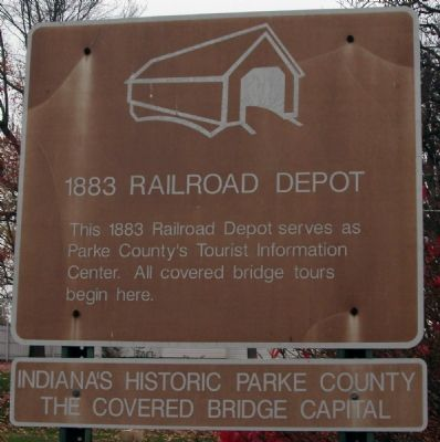 Covered Bridge Capital of the World Marker image. Click for full size.