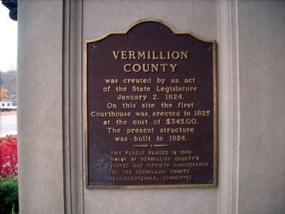 Vermillion County Marker image. Click for full size.