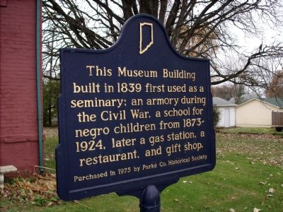 Parke County Museum Marker Photo, Click for full size