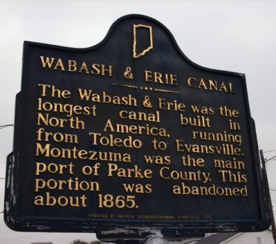 Wabash & Erie Canal Marker image. Click for full size.