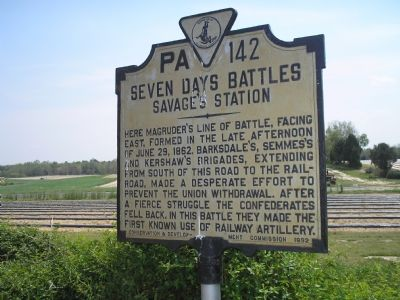 Seven Days Battles - Savage's Station marker image. Click for full size.