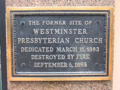 Westminster Presbyterian Church Marker image. Click for full size.
