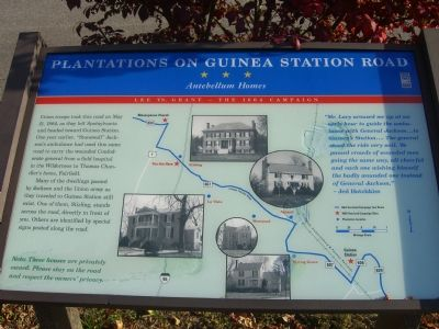 Plantations on Guinea Station Road Marker image. Click for full size.