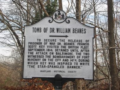 Tomb of Dr. William Beanes Marker image. Click for full size.