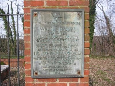 William Beanes Marker Photo, Click for full size
