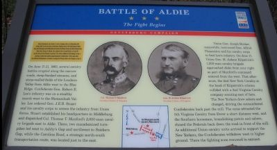 Battle of Aldie Marker image. Click for full size.