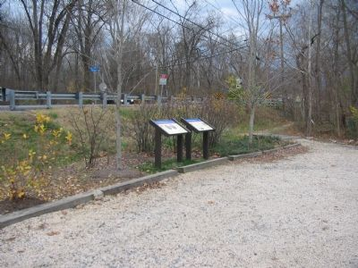 Markers in the Aldie Mill Parking Lot image. Click for full size.