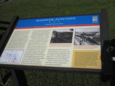 Hanover Junction Civil War Trails marker Photo, Click for full size