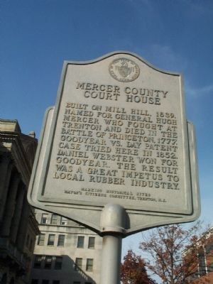Mercer County Courthouse Marker image. Click for full size.