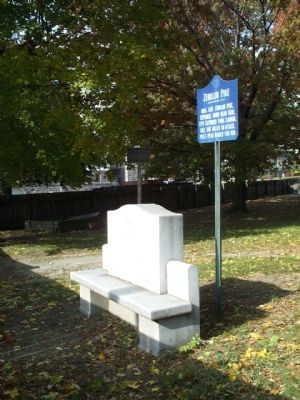 Zebulon Pike Marker & Bench image. Click for full size.