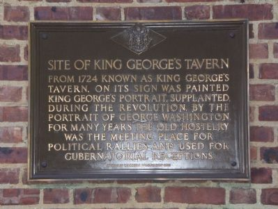 Site of King George's Tavern Marker Photo, Click for full size