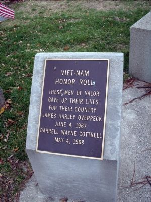Viet-Nam Honor Roll Marker Photo, Click for full size