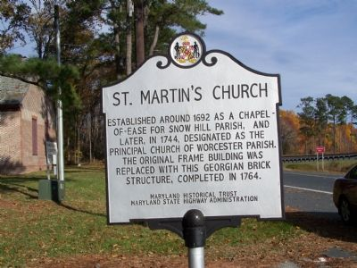 St. Martin's Church Marker Photo, Click for full size