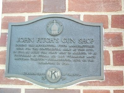 John Fitch's Gun Shop Marker image. Click for full size.