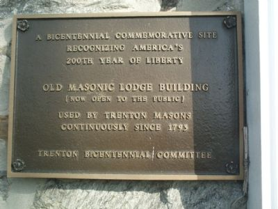 Old Masonic Lodge Building Marker Photo, Click for full size