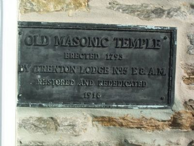 Old Masonic Temple Marker Photo, Click for full size