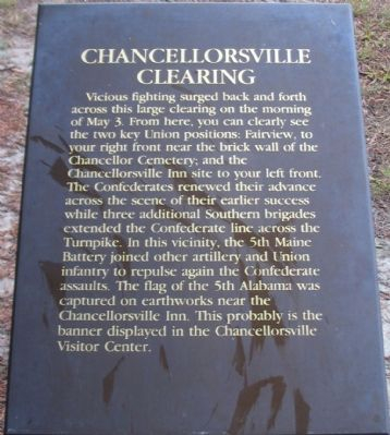 Chancellorsville Clearing Marker image. Click for full size.